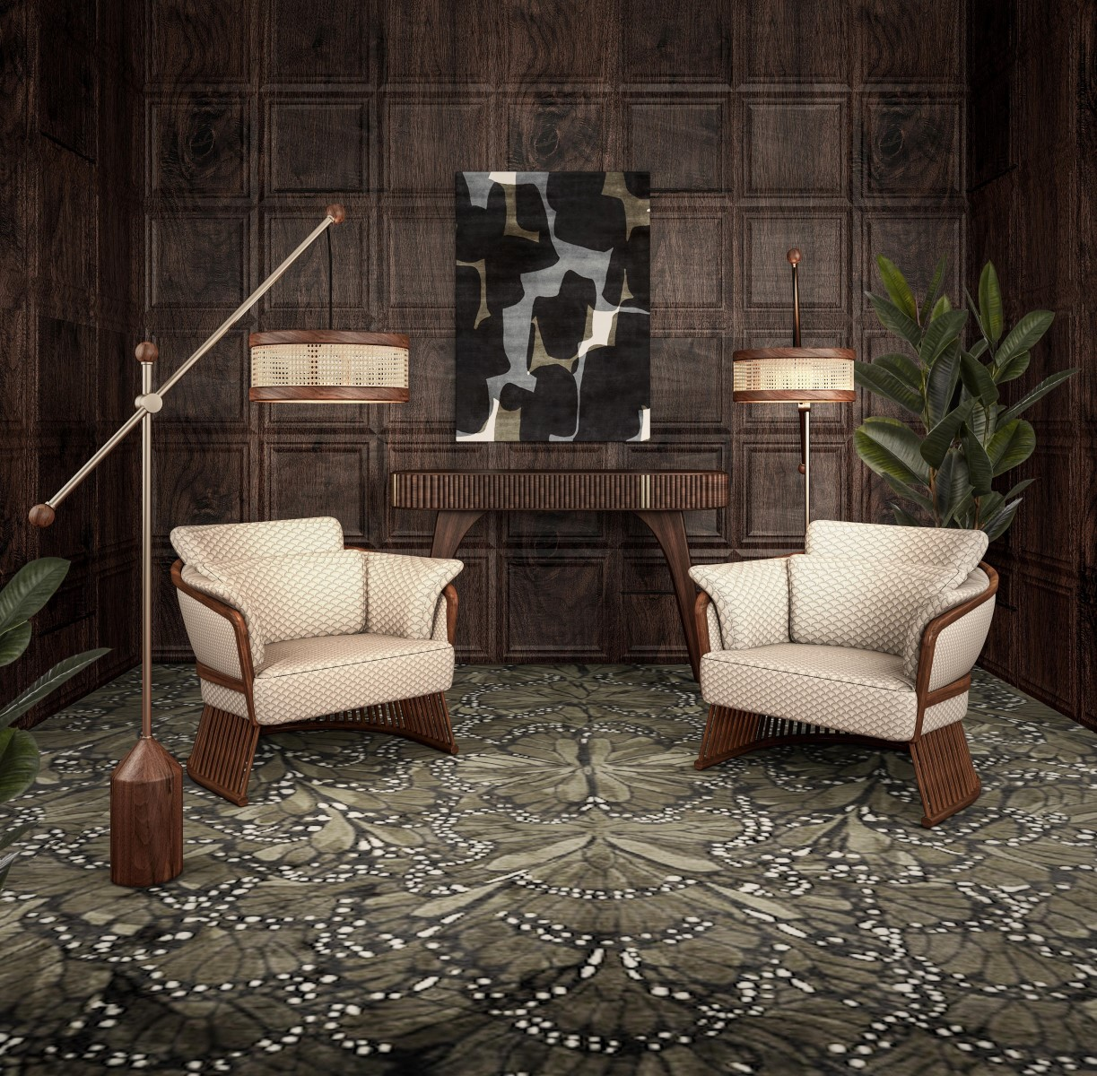 Wood Tailors Club Hamilton Floor Lamp