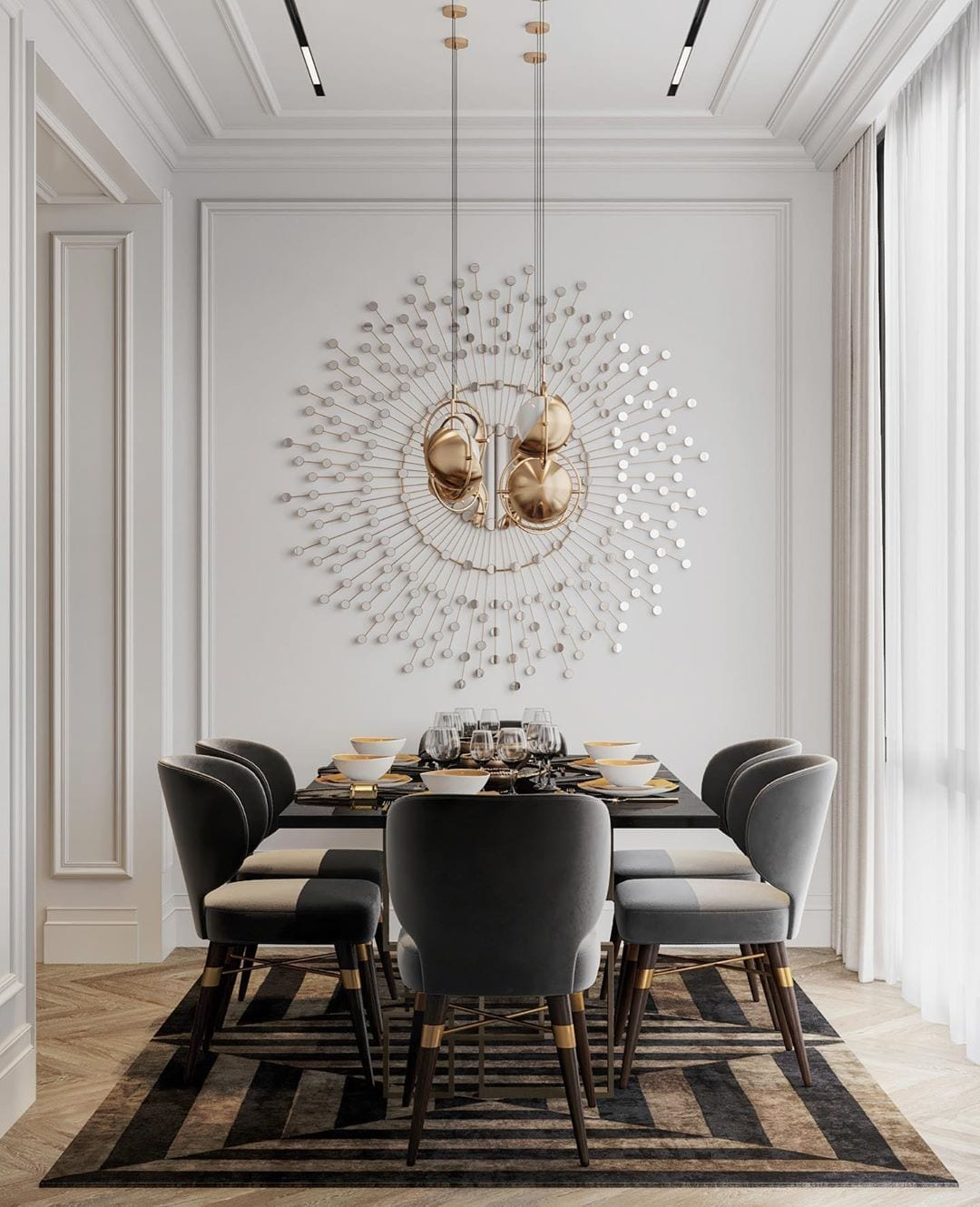 residential project moscow russia louis dining chair 1 Residential Project in Moscow