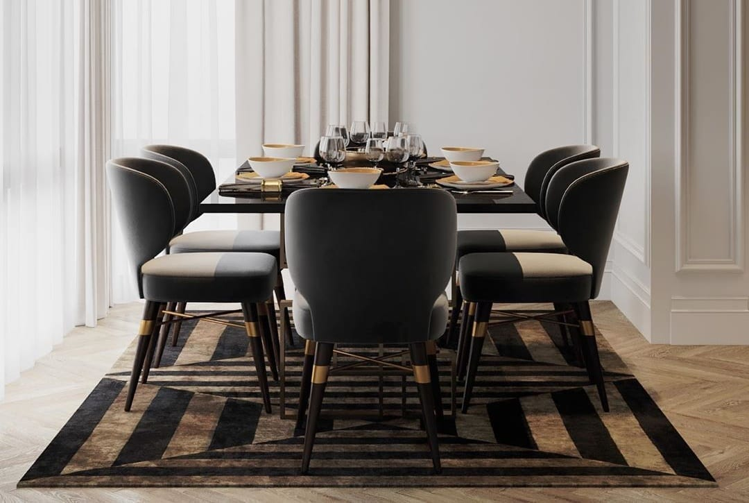 residential project moscow russia louis dining chair 3 Residential Project in Moscow