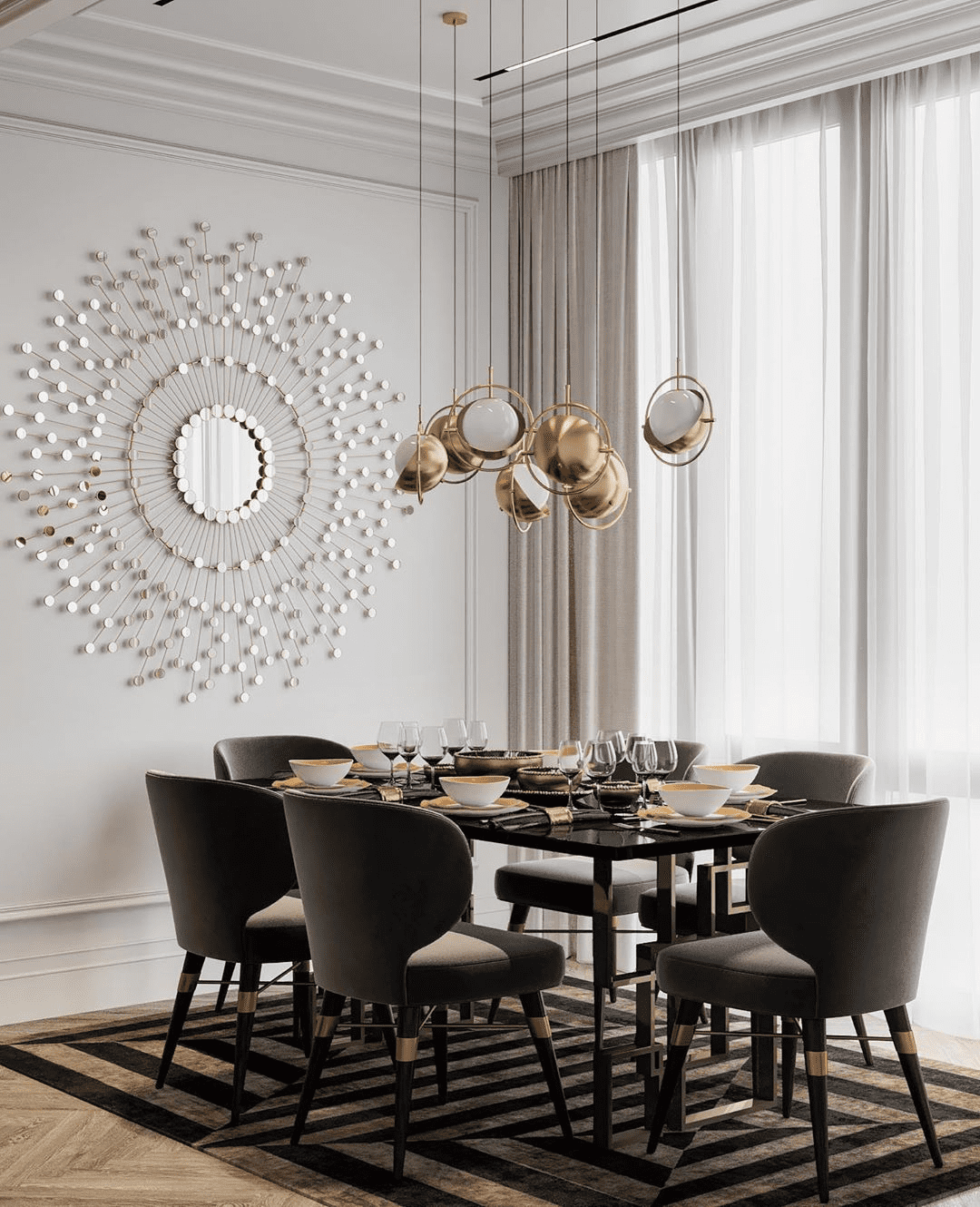 residential project moscow russia louis dining chair Residential Project in Moscow